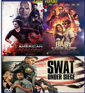 American Assassin, Baby Driver, S.W.A.T. Under Siege Combo LATINO