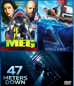 The Meg, The Shallows, 47 Meters Down combo Latino
