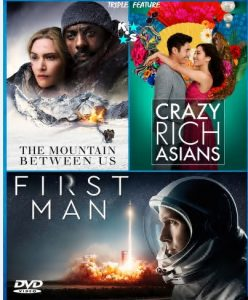 The Mountain Between Us, Crazy Rich Asians, First Man combo LATINO