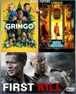 First Kill, Gringo, Hotel Artemis Combo LATINO
