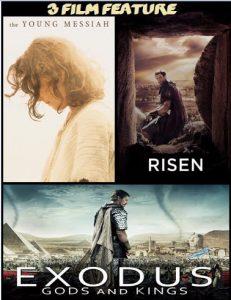The Young Messiah, Risen, Exodus combo