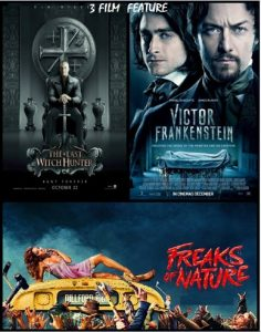 The Last Witch Hunter, Victor Frankenstein, Freaks Of Nature combo