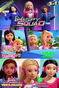 BARBIE 1 Spy Squad-2 And Her Sisters In A Puppy Chase-3 Video Game Hero LATINO