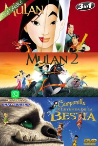 Mulan-Mulan 2-Tinker Bell and the Legend of the NeverBeast 2014